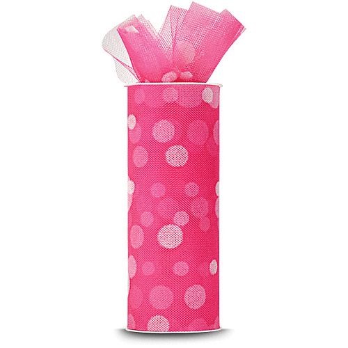 Expo Polka Dot Flocked Tulle, 10 Yards