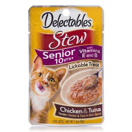 (12 Pack) Delectables Lickable Cat Treats - Stew Senior 10 yrs+ Chicken & Tuna, 1.4 Oz.