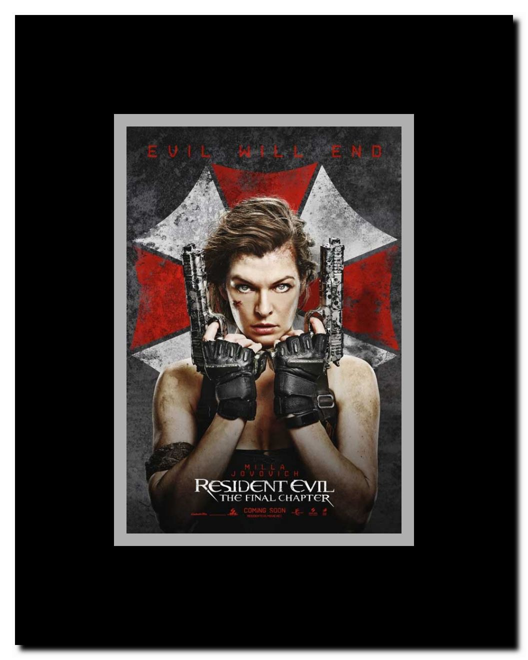 Resident Evil The Final Chapter Framed Movie Poster Walmart Com