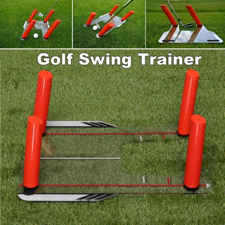 Konday Golf Swing Speed Trainer Trap Base Training + 4 Speed Rods + Protable Storage Bag Putting Plane Path Practice Aid Outdoor Golfclub Exercise Fitness