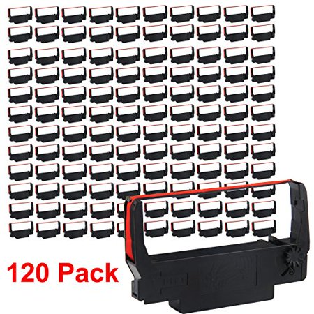 Erc 38 Ribbon Cartridge (myCartridge 120 Pack Compatible Ribbon Cartridge Replacement for ERC 30 34 38 B/R (Black Red) for use in ERC38 NK506 )