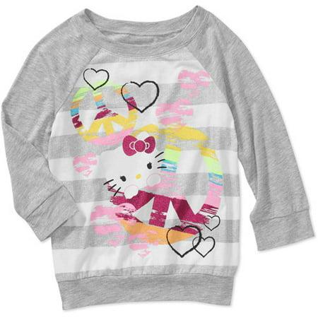 3d249ab83ee ONLINE - Hello Kitty Girls 3 4 Sleeve Jersey Top - Walmart.com
