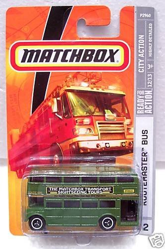 2009 Routemaster Bus # 52, City Action, 1:64 Scale., By Matchbox by