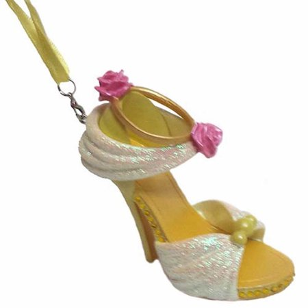 disney parks beauty and the beast princess belle shoe ornament new with tag (Belle Disney Shoes)