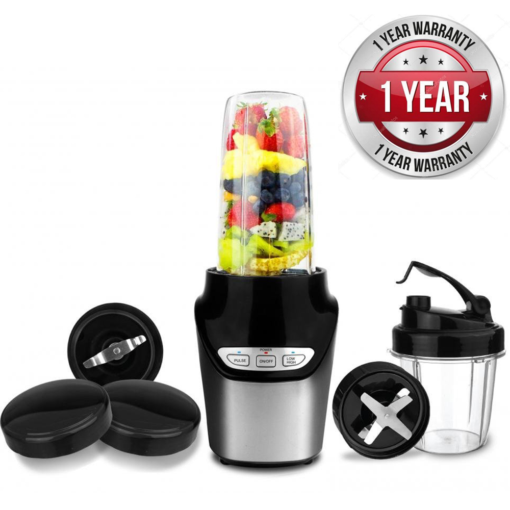 Blender Smoothie Fruit Juicer High-Speed Food Extractor Juicer Smoothies Maker Nutri Power Blender Mixer 8 Piece Set Food Fruit Processor - 1000 Watt