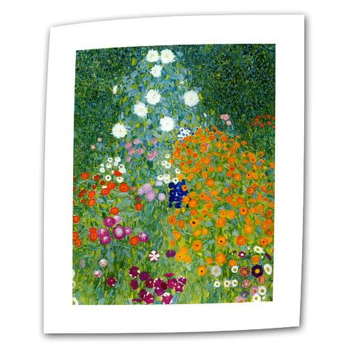 ArtWall ''Farm Garden'' by Gustav Klimt Print of Painting on Canvas