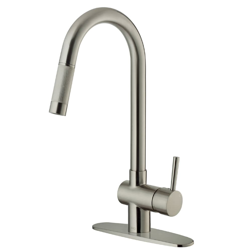 Good Vigo Gramercy Stainless Steel Pull Down Kitchen Faucet With Deck Plate