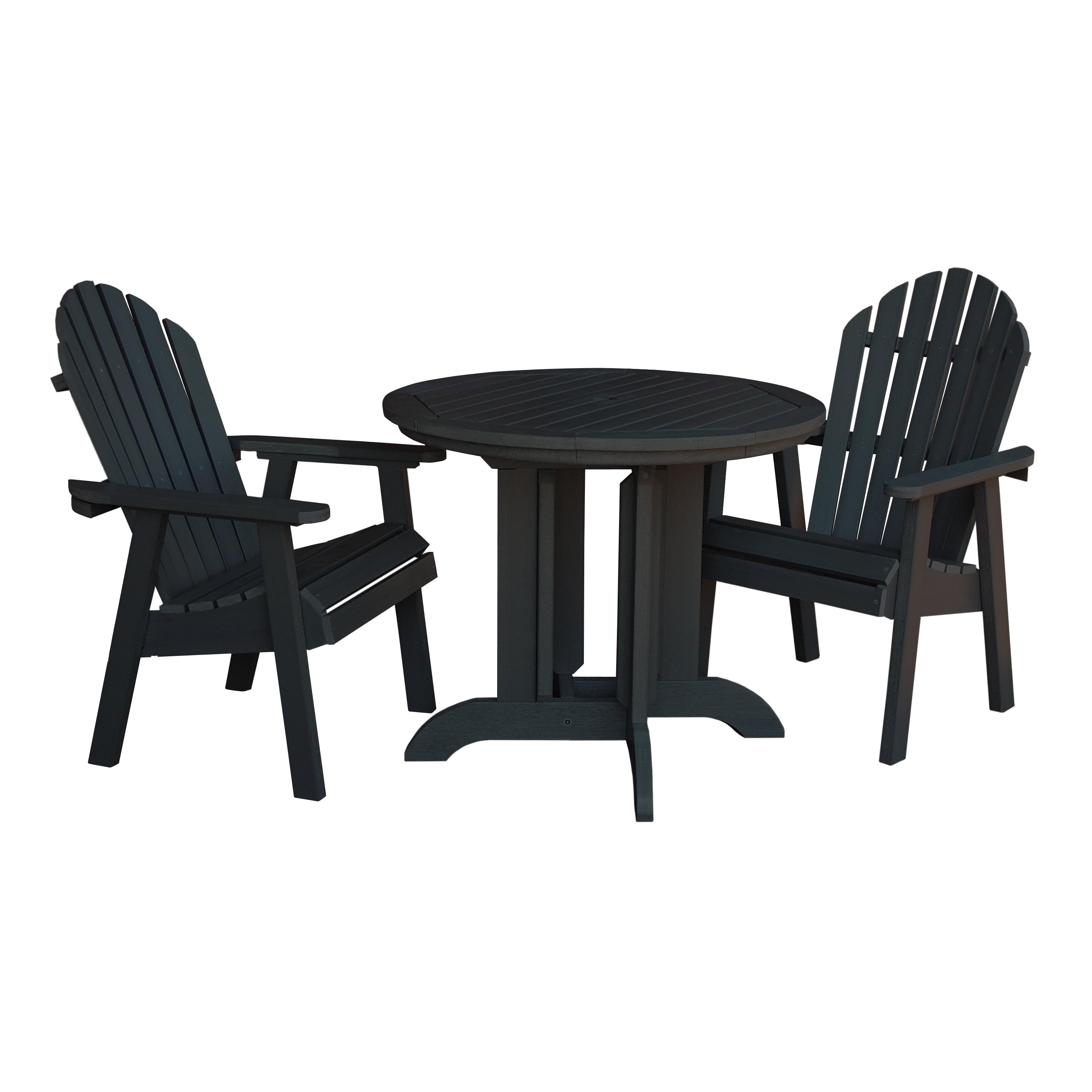 highwood® Eco-Friendly Hamilton 3pc Round Dining Set