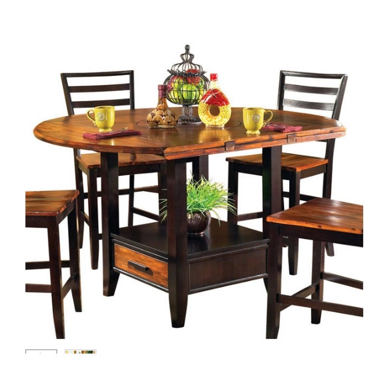 Steve Silver Abaco Drop Leaf Counter Height Dining Table in Acacia by Steve Silver Company