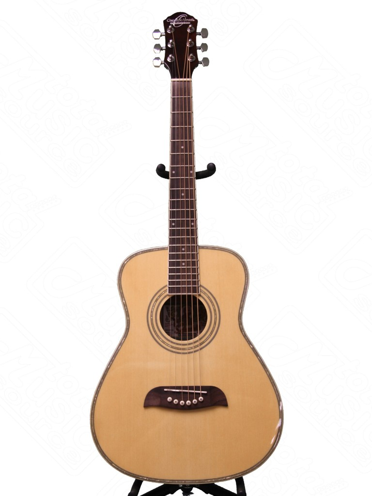 Oscar Schmidt LEFT HAND 1 2 Size Acoustic Guitar, Select Spruce, Natural, OGHSLH by Oscar Schmidt