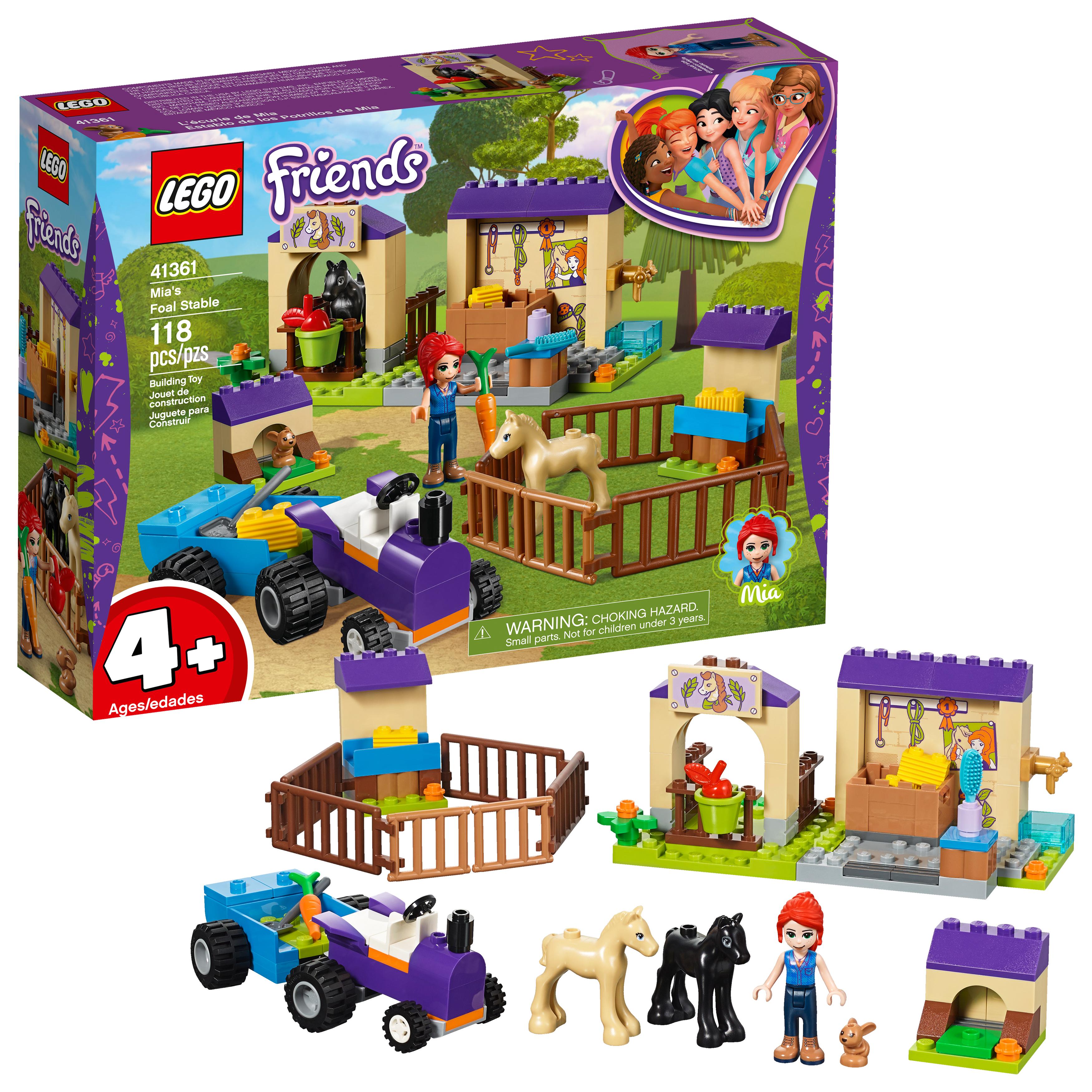 LEGO Friends 4+ Mia's Foal Stable 41361 Building Set