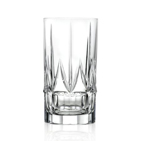 Lorren Home Trends Chic Set of 6 High Ball Tumblers (Chic Glasses)