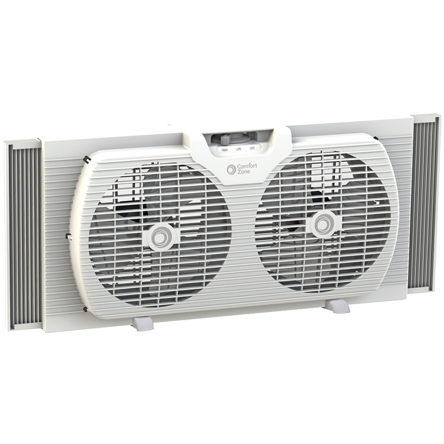 "Comfort Zone CZ319WT 9"" Twin Portable Window Fan"