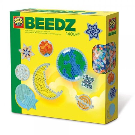 SES Creative Iron On Beads Glow In The Dark Space