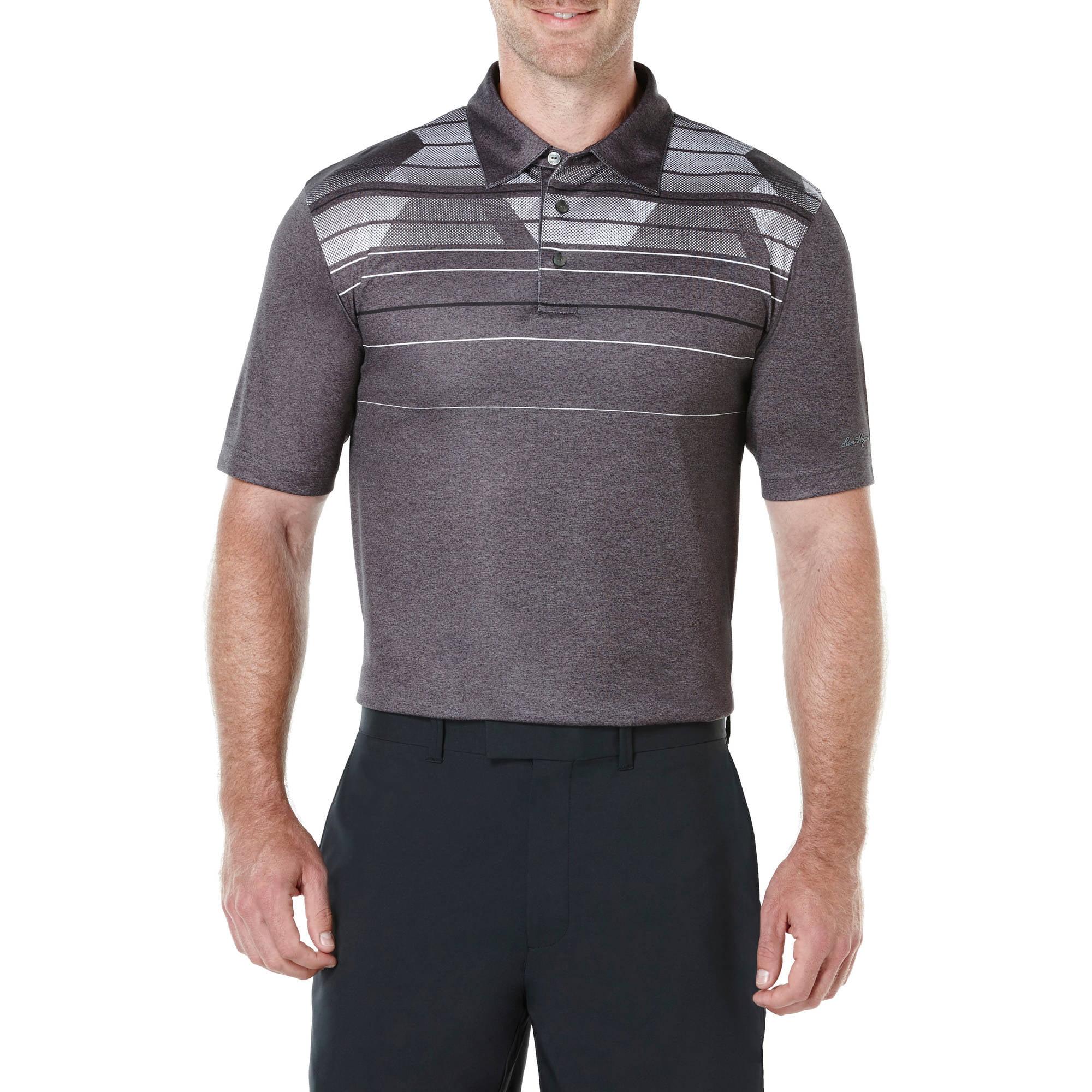 Ben Hogan Performance Big Men's Heather Shoulder Print  Polo Shirt