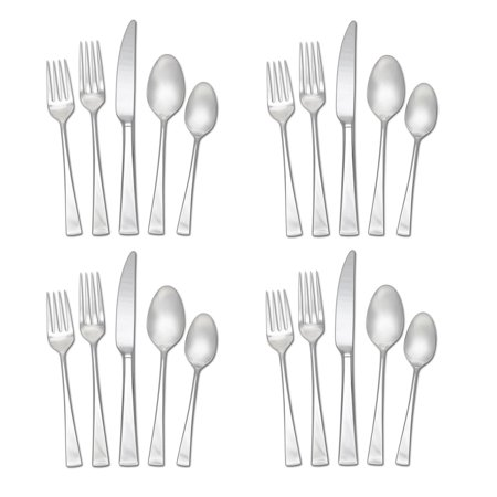 Mikasa 5100238 Lucia 20-Piece 18/10 Stainless Steel Flatware Set , Service for