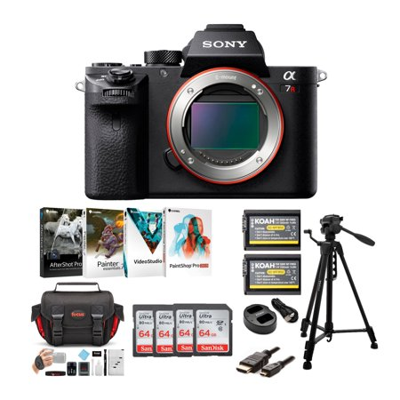 Sony Alpha a7RII Mirrorless Camera with Four SD Cards and Creative Suite Bundle