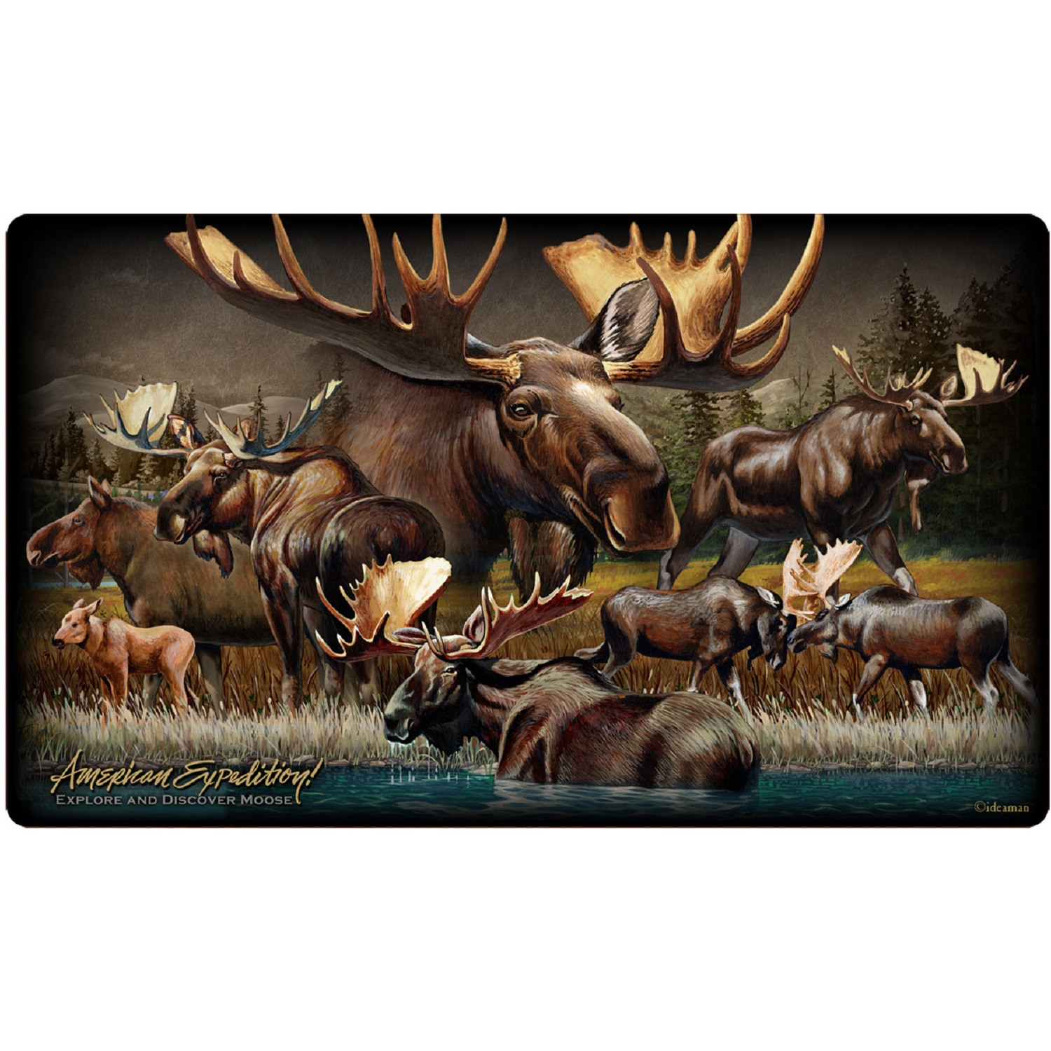 American Expedition Cutting Board - Moose Collage