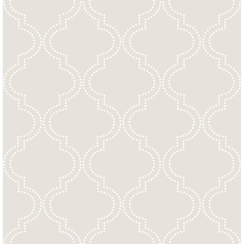 NuWallpaper Taupe Quatrefoil Peel & Stick Wallpaper