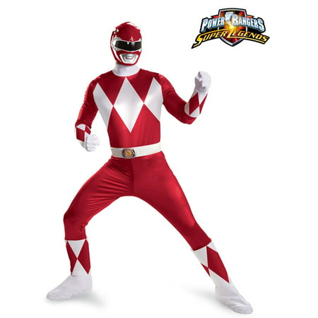 Power Rangers Red Ranger Super Deluxe Costume for - Red Costumes For Men