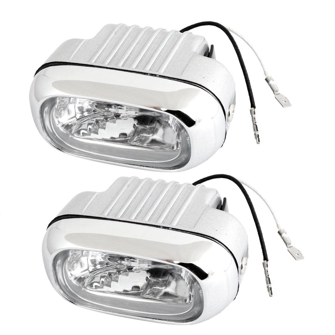 2 Pcs 55W White H3 Socket Halogen Lamp Fog Lights Headlamps DC 12V for Car
