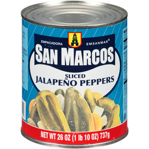 San Marcos Sliced Jalapeno Peppers, 26 oz (Pack of 12)