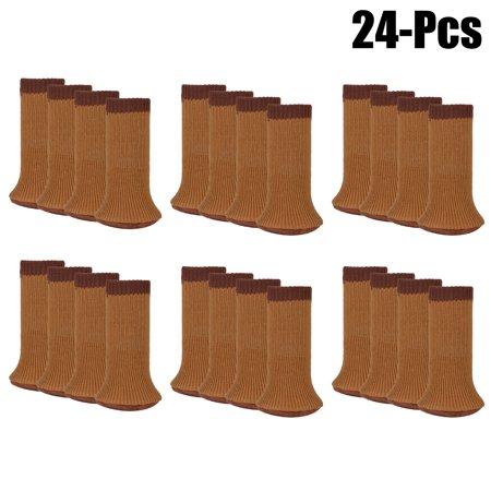 24pcs Chair Socks Set Justdolife Anti Skid Wool Knitted Leg Floor Protectors Furniture