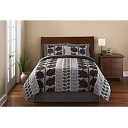 Mainstays Laurel 3-Piece Reversible Bedding Comforter Set