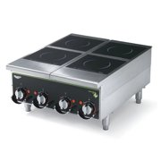 "Vollrath 924HIMC 24"" Countertop Manual Heavy-Duty Induction Hotplate - 4 Hob"