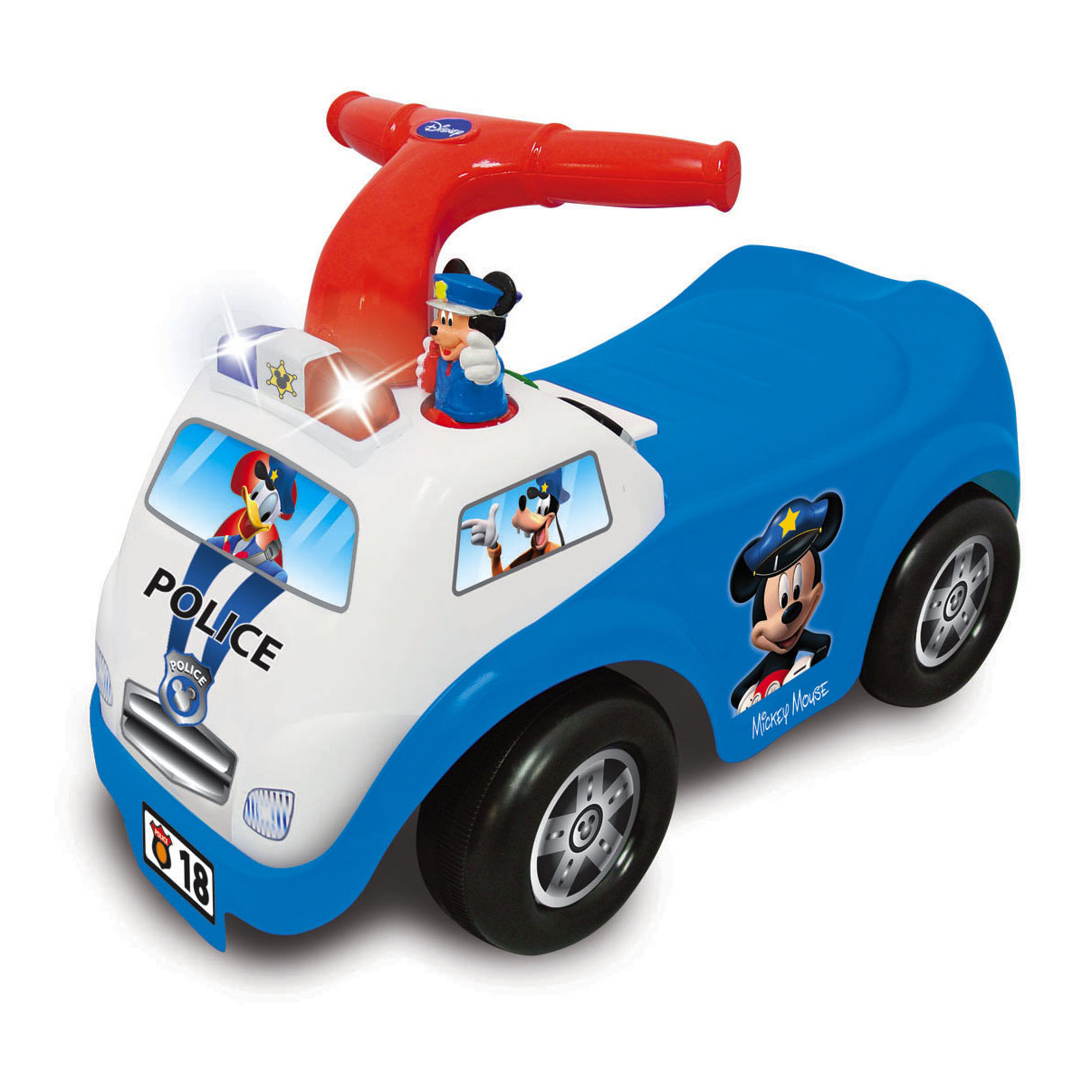 Kiddieland Disney Mickey Mouse Police Drive Along Ride-On