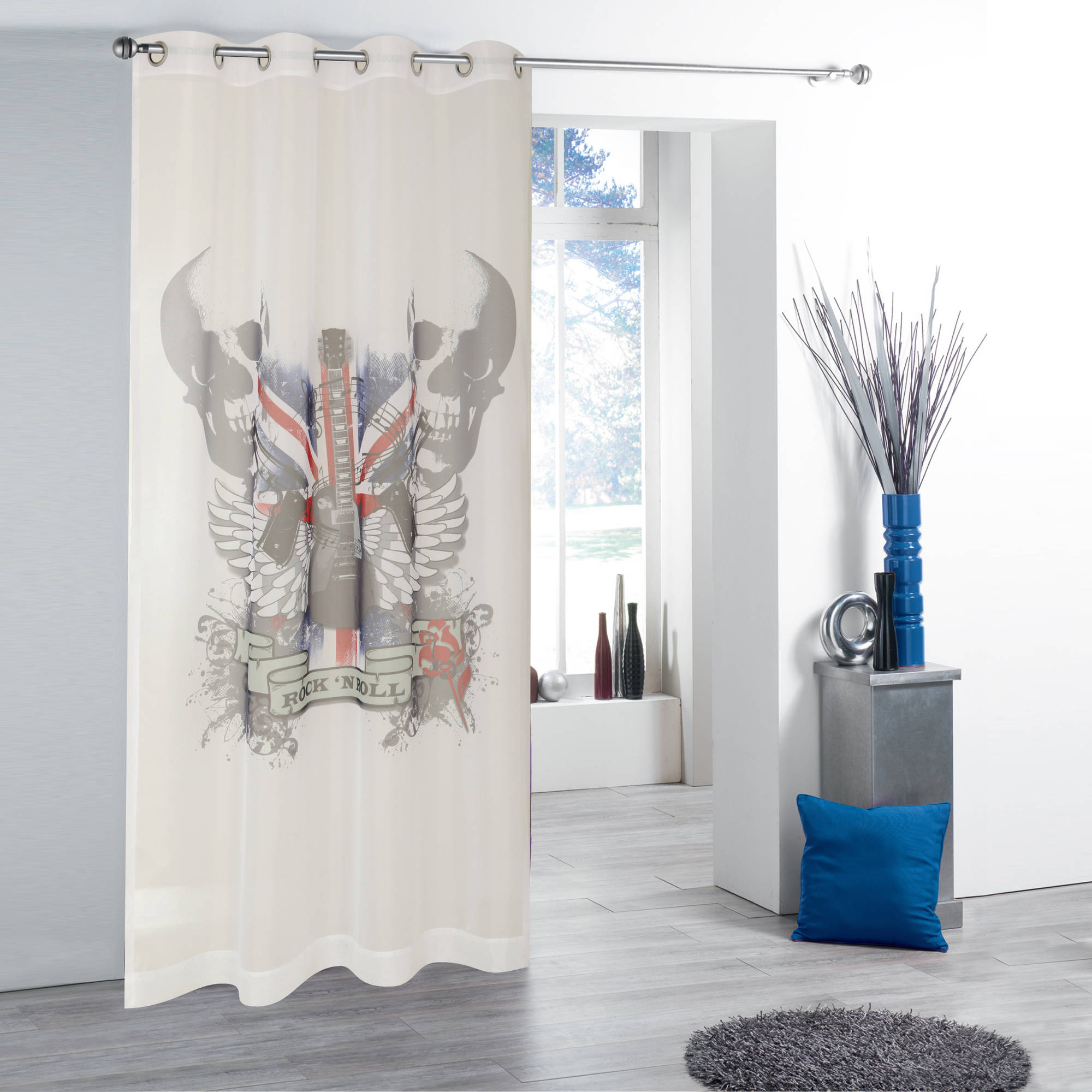 Photo Real Sheers British Invasion Window Curtain Panel