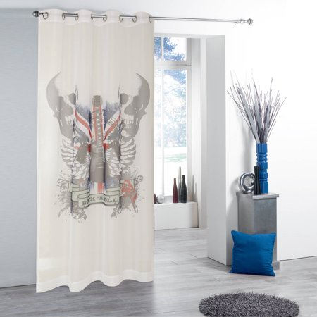 Photo Real Sheers British Invasion Window Curtain (Uniform Real Photo)