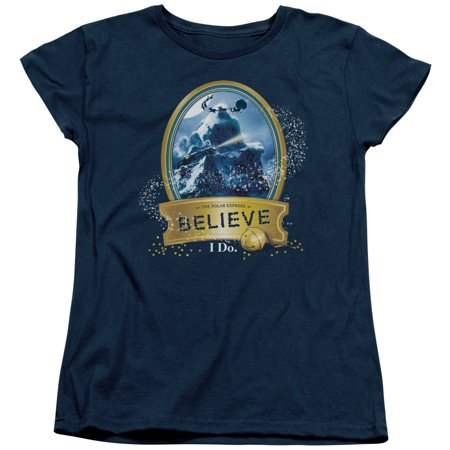The Polar Express True Believer Womens Short Sleeve Shirt - Express Suits Womens