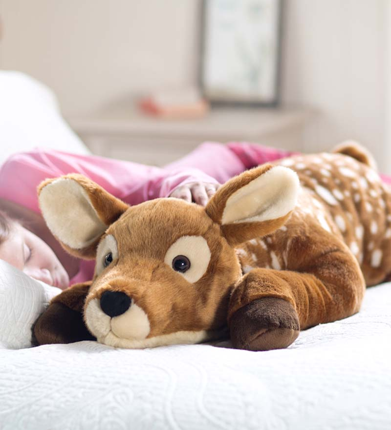 Fuzzy Spotted Fawn Body Pillow - Super Soft Body Pillow