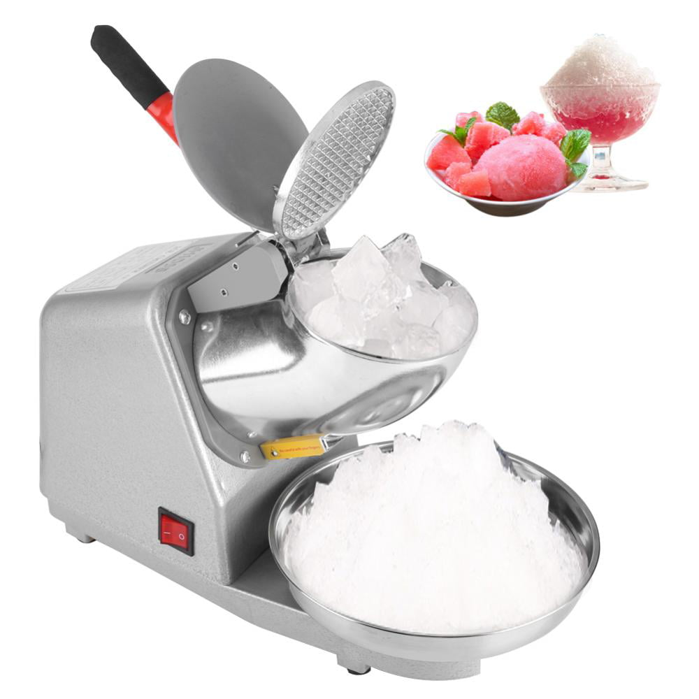 Dilwe Commercial Household Manual Electric Ice Crusher Shaver Machine Snow Cone Maker 110V, Ice Shaver, Snow... by