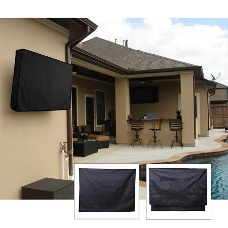 """42"""" Outdoor TV Cover Waterproof Television Protector for LCD LED Plasma, Black"""