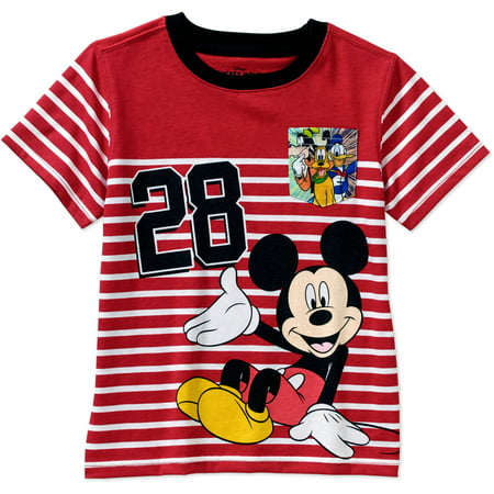 Mickey Mouse Toddler Boy Short Sleeve Graphic Tee Shirt