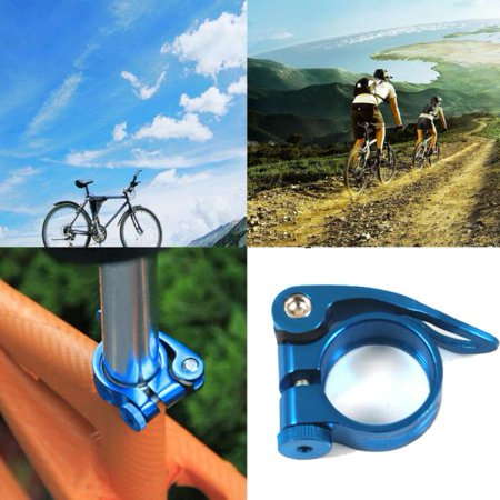- 31.8mm MTB Bike Bicycle Cycling Saddle Seatpost Clamp Quick Release Style