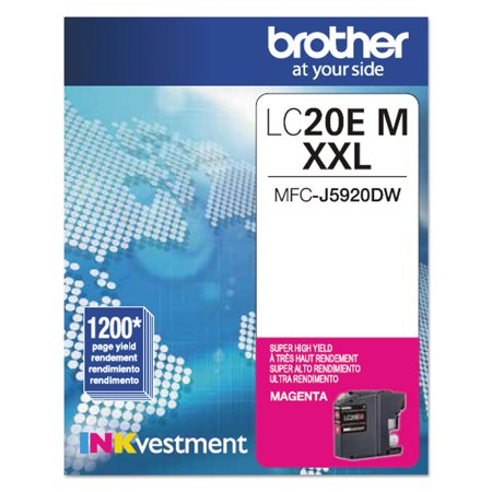 Brother LC20EM INKvestment Super High-Yield Ink, Magenta 5000 Magenta Ink