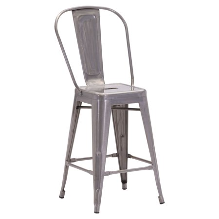 Elio Counter Chair Gunmetal  Set Of 2