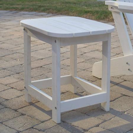 Advantage Rectangular Table - Belham Living Seacrest Cottage All Weather Resin Rectangular Side Table - White