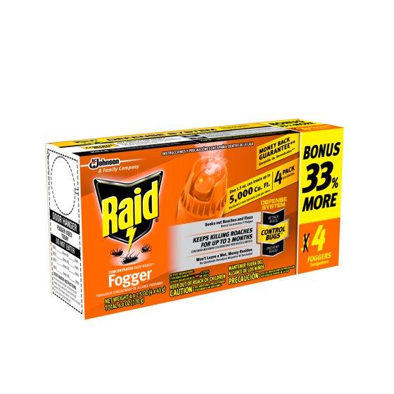 Raid Concentrated Deep Reach Fogger, 1 5 oz, 4 cans