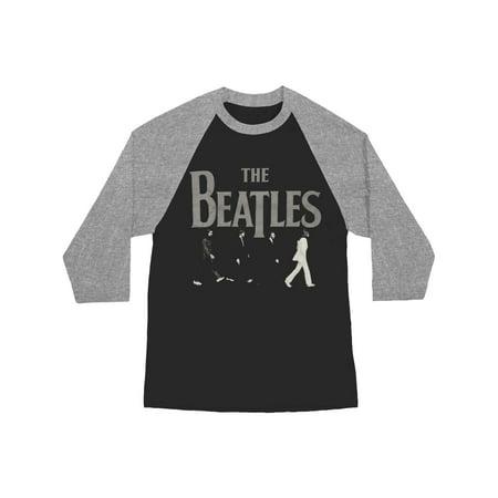 Beatles Men's  Abbey Road Raglan Baseball Jersey Grey