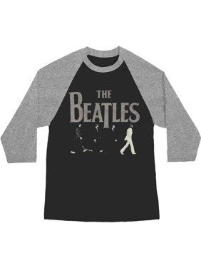 6deda85874aa Product Image Beatles Men s Abbey Road Raglan Baseball Jersey Grey