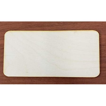 Rectangle Round Corner Cut Out 1/8 x 2 PKG 25 Laser Cut Wooden Rectangle-RC by WOODNSHOP