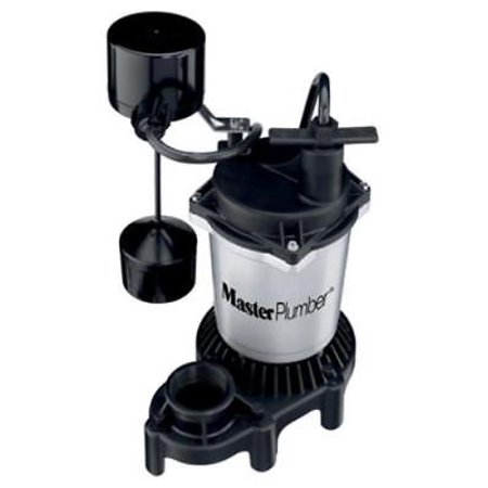 - Master Plumber 1/2 HP Zinc and Plastic Sump Pump With Vertical Switch 4