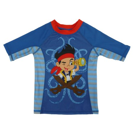 Disney toddler boys jake the never land pirates rash for Baby rash guard shirt