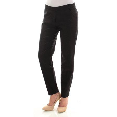 MAX STUDIO Womens Black Flat Front Straight leg Wear To Work Pants  Size: 2