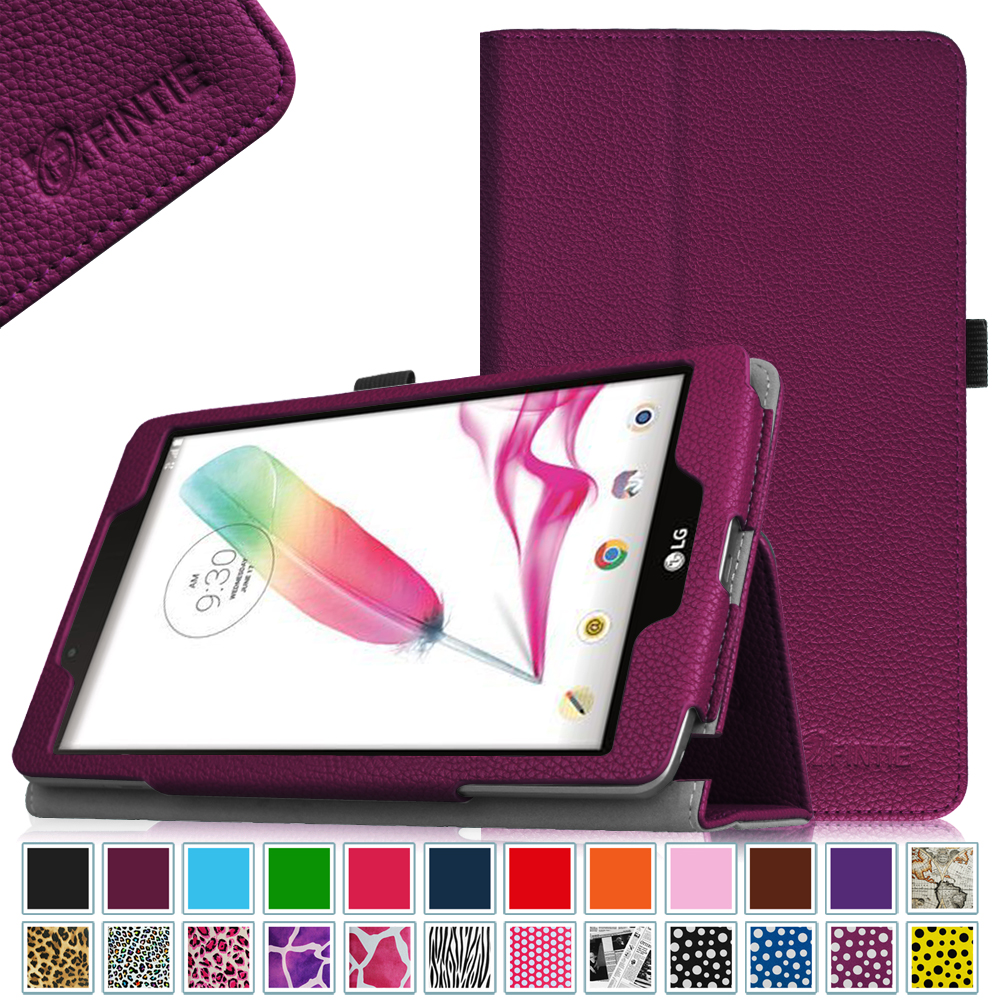 LG G Pad II 8.0 V498 Case - Fintie Premium PU Leather Slim Fit Folio Cover for G Pad 2 8-Inch Tablet, Purple