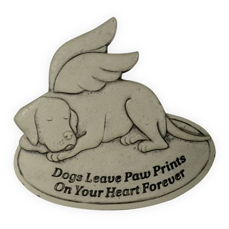 AngelStar Pawsitive Pet Collection Dogs Leave Paw Prints on Your Heart Memorial Garden Stone (Dogs Leave Pawprints On Our Hearts Stone)
